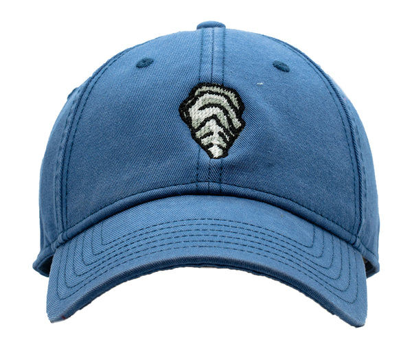 Oyster on Slate Blue Hat