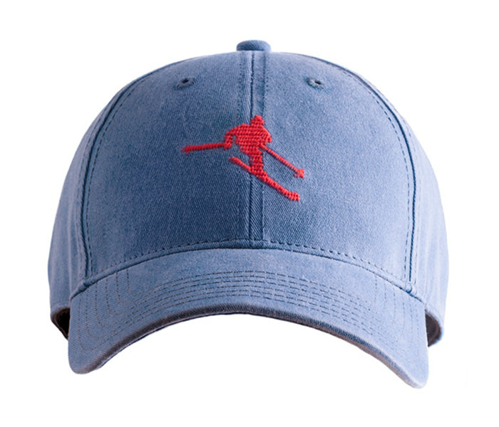 Retro Schuss on Slate Blue Hat