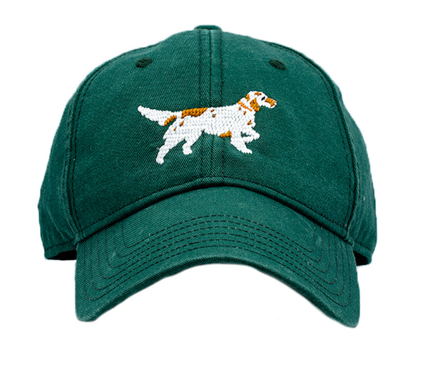 Setter on Tee Green Hat