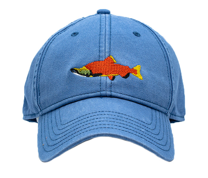 Sockeye Salmon on Slate Blue Hat