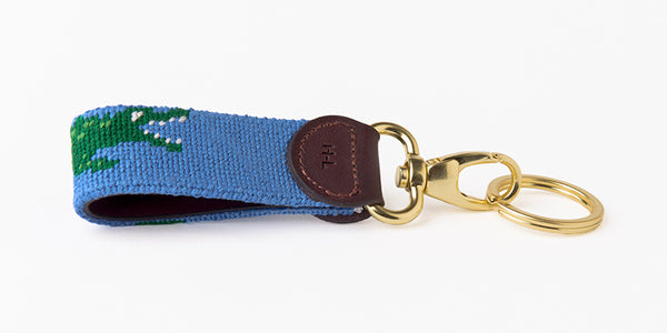 Alligator on Lagoon Blue Key Fob