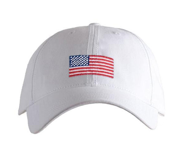American Flag on White Hat
