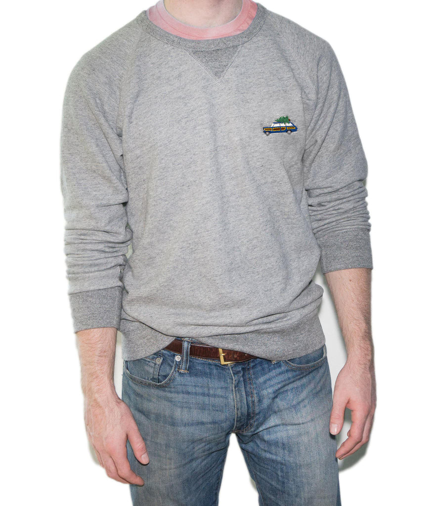 Grand Wagoneer Blue Holiday Crewneck