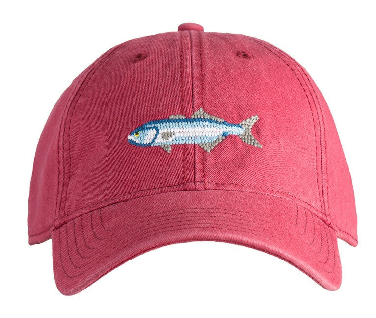 Bluefish on Weathered Red Hat