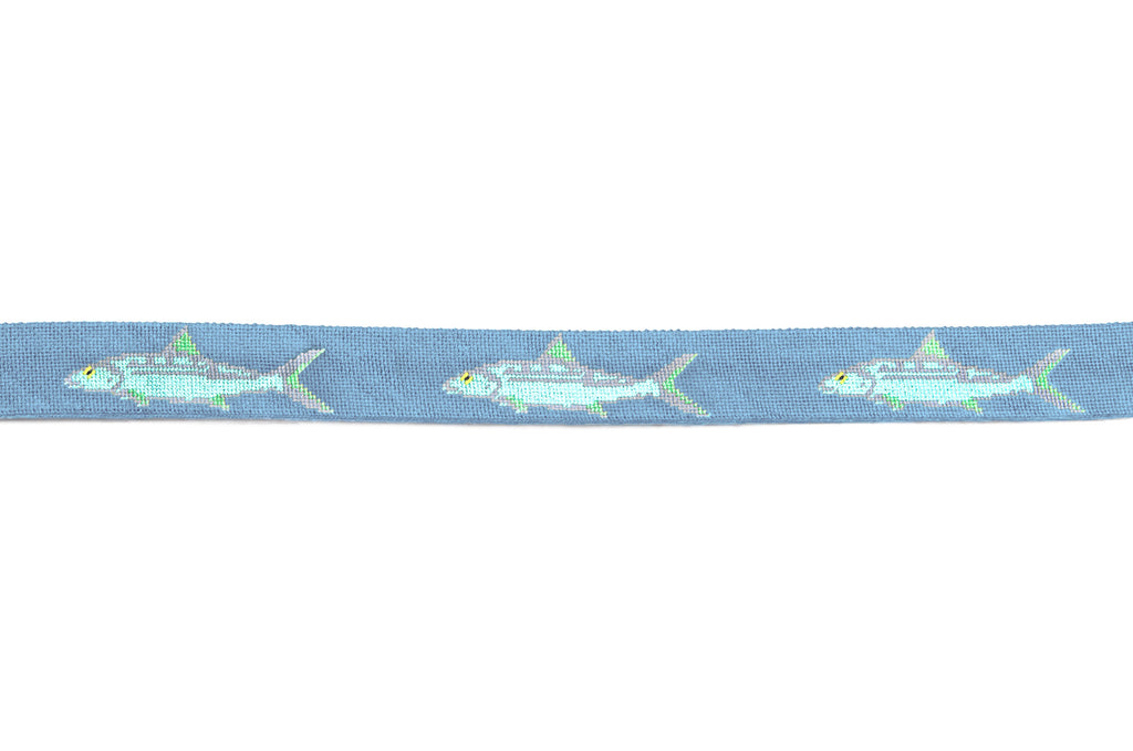 Bonefish on slate blue Belt