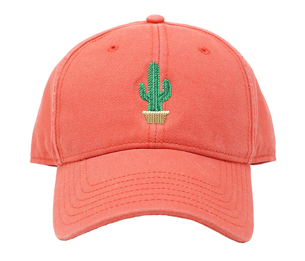 Cactus on Coral Hat