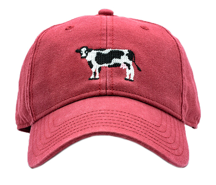 Kids Cow on Weathered Red Hat