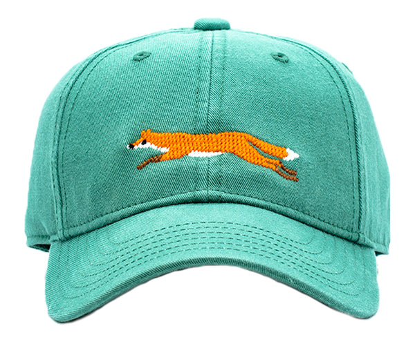 Kids Fox on Moss Green Hat