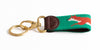Fox on Tee Green Key Fob