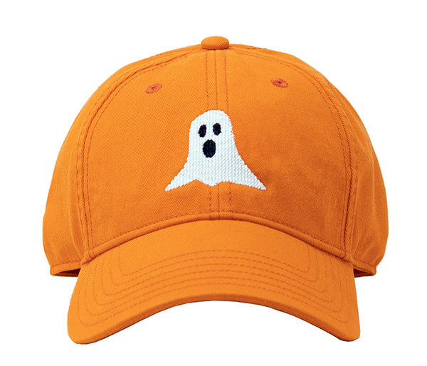 Ghost Halloween on Bright Orange Hat