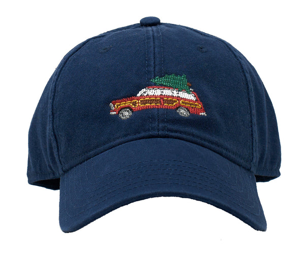 Holiday Wagoneer Red on Navy hat