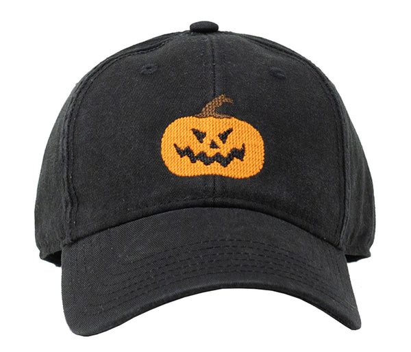 Jack-O-Lantern Halloween on Black Hat