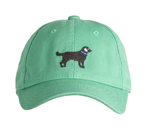 Kids' Black Lab on Mint Green Hat
