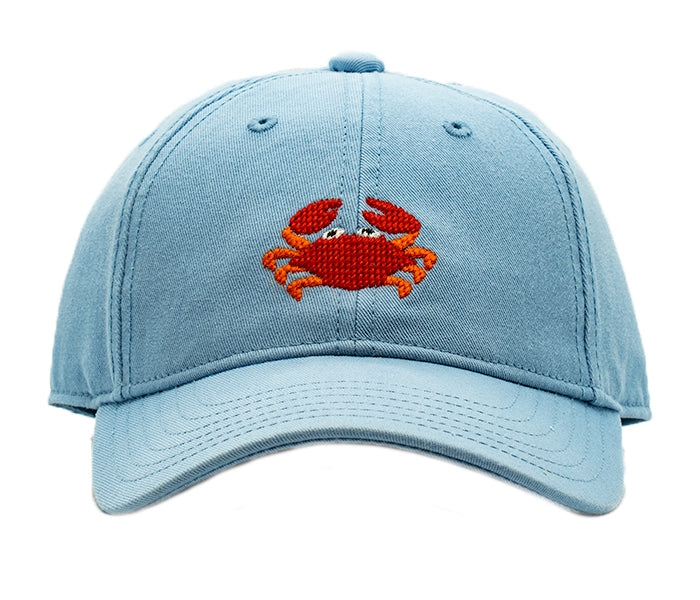 Kids Crab on Faded Chambray Hat