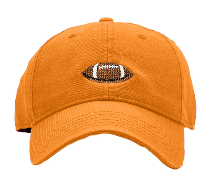 Kids Football on Bright Orange Hat