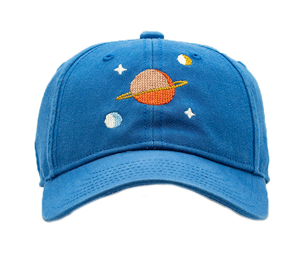Kids Outer Space on Cobalt Blue Hat