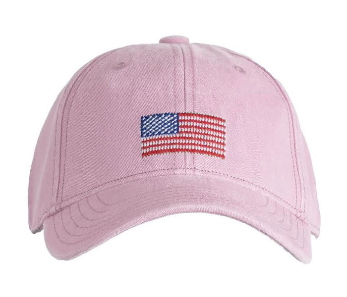 Kids' American Flag on Light Pink Hat
