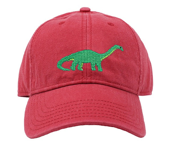 Kids' Brontosaurus on Weathered Red Hat