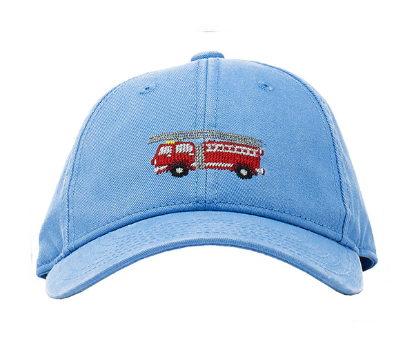 Kids Firetruck on Light Blue Hat