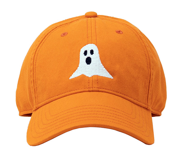Kids Ghost Halloween on Bright Orange Hat