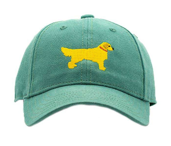 Kids Golden Retriever on Moss Green Hat