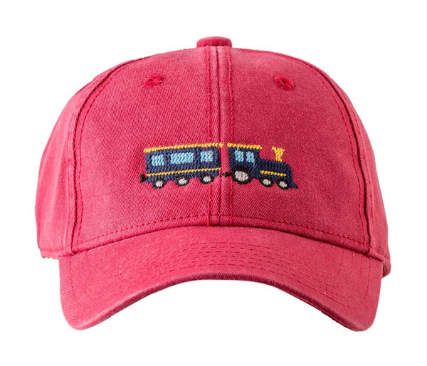 Kids Train on Weathered Red Hat