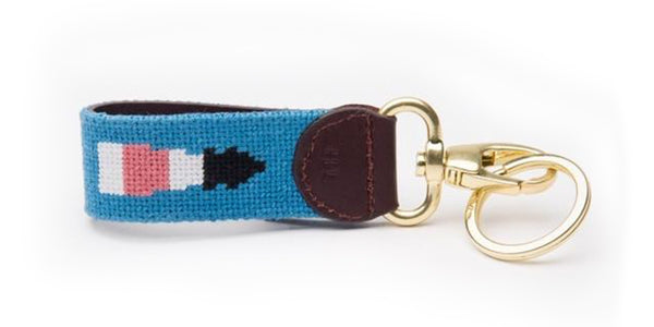 Lighthouse on Dust Blue Key Fob