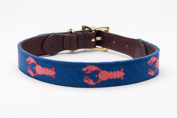 Lobster on Blue Dog Collar