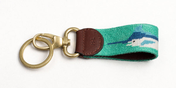 Marlin on Aqua Key Fob