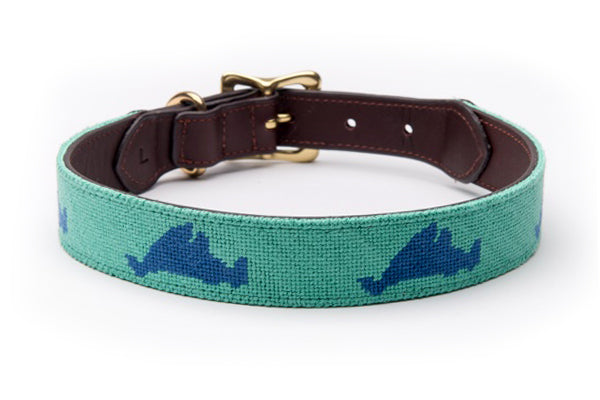 Martha's Vineyard on Green Dog Collar