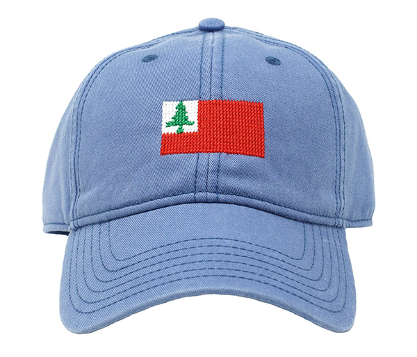 New England Flag on Slate Blue Hat