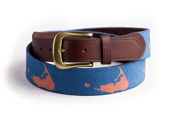 Nantucket on Faded Navy Belt