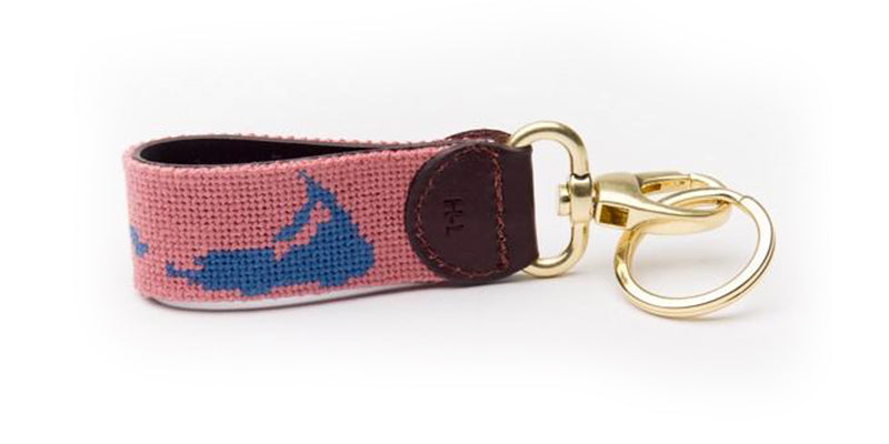 Nantucket on Red Key Fob