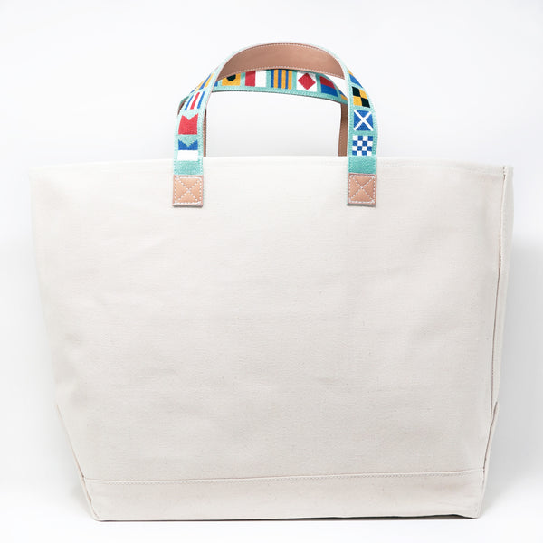 Nautical Flags on Mint Tote