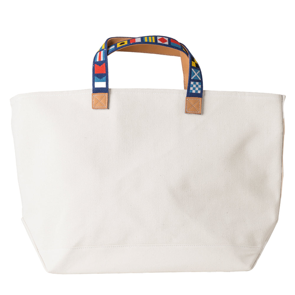 Nautical Flags on Navy Tote