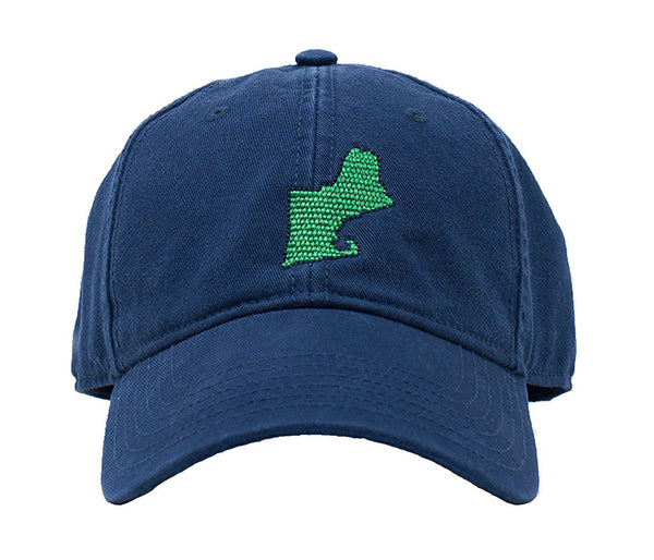 New England Map on Navy hat