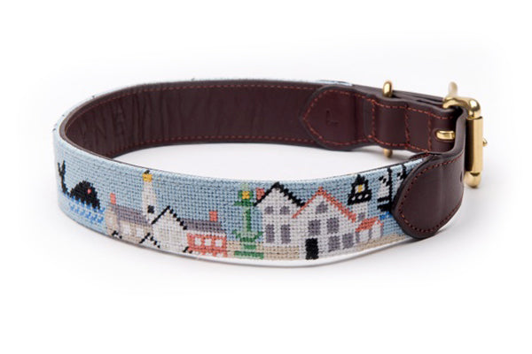 Old Nantucket Harbor Dog Collar
