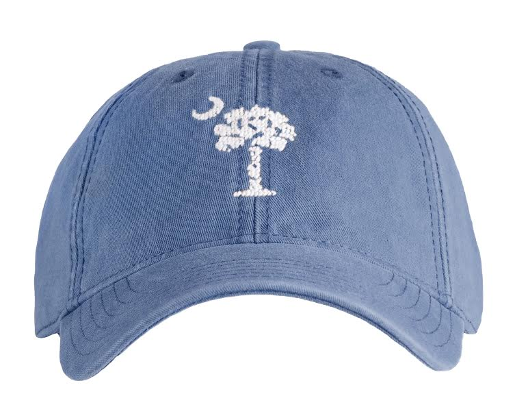 Palmetto Moon on Slate Blue Hat