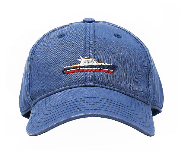 Picnic Boat on Slate Blue Hat