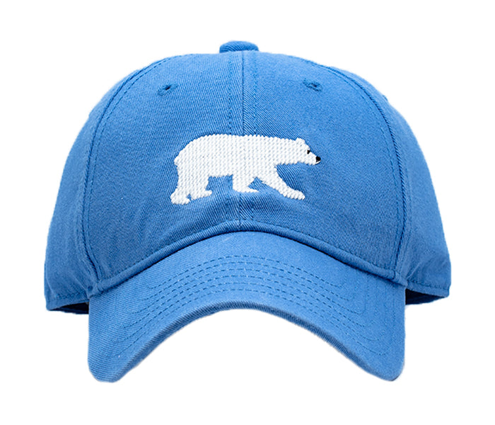 Kids Polar Bear on Light Blue Hat