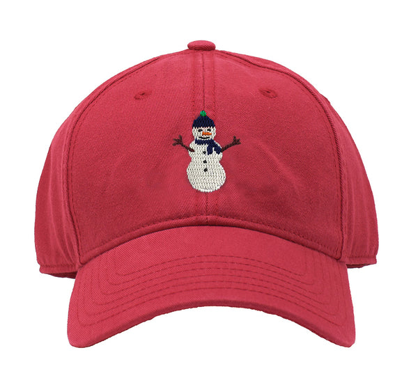 Kids' Snowman on Weathered Red hat