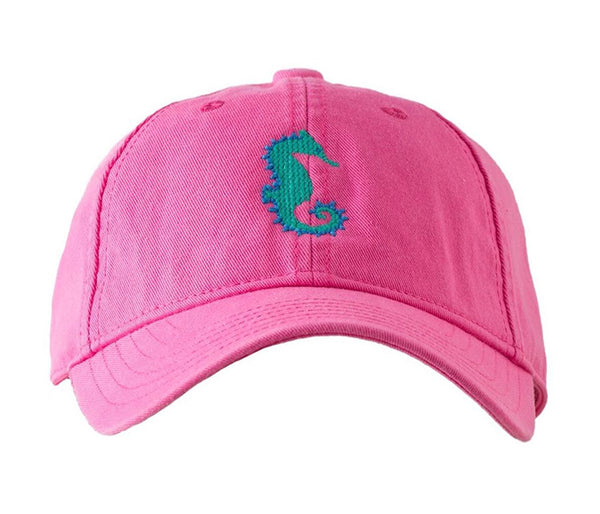 Kids Seahorse on Bright Pink Hat
