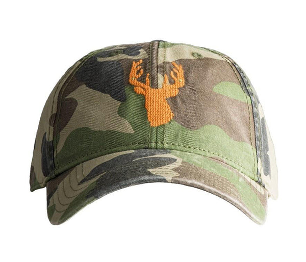 Stag on Camo Hat