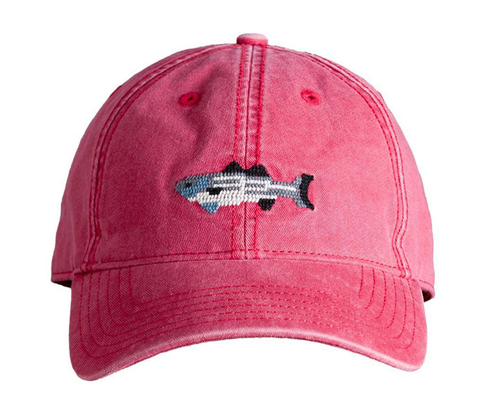 Striped Bass on Weathered Red Hat