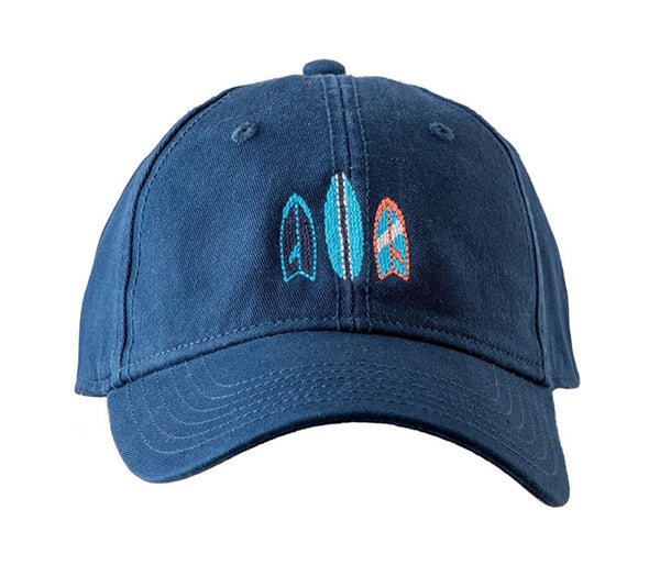 Surfboards on Navy Hat