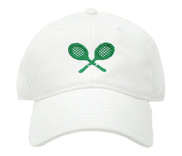 Tennis Racquets on White Hat