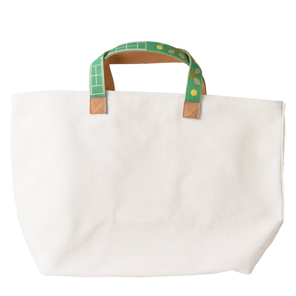 Tennis on Kelly Green Tote (EXCLUDED FROM SALE)
