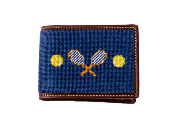 Tennis on Navy Wallet