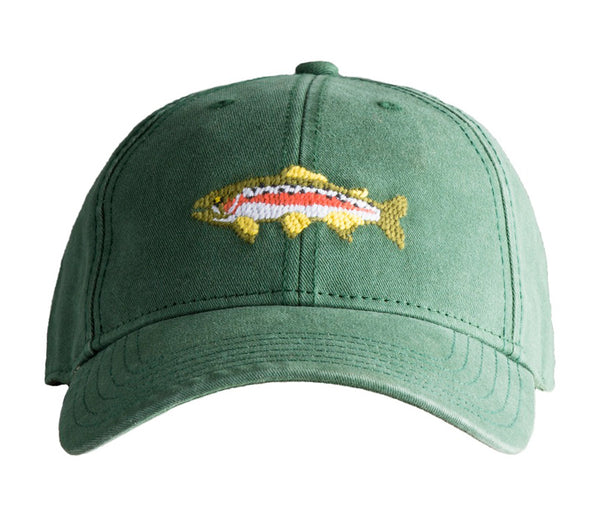 Trout on Moss Green Hat