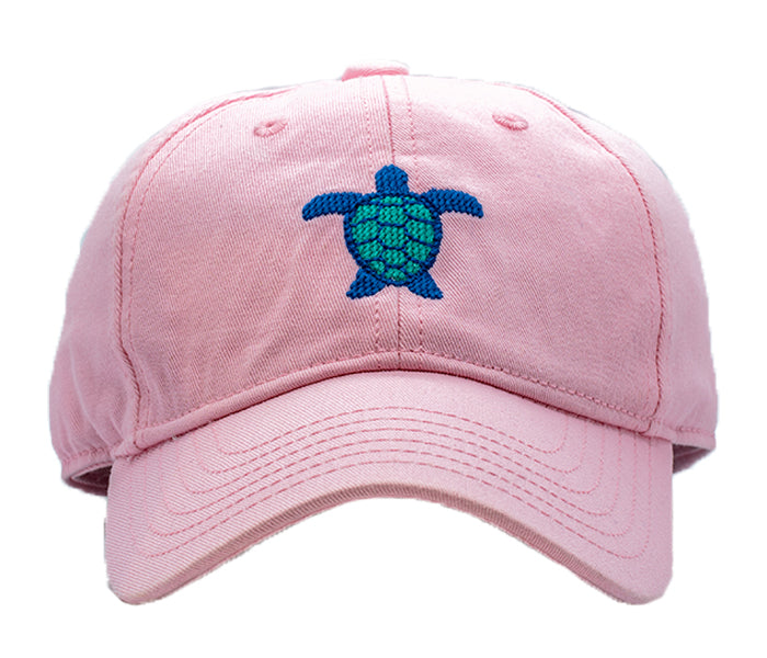 Kids Sea Turtle on Light Pink Hat